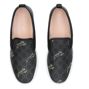 Gucci Supreme Tiger Sneakers loafers slip on 12.5